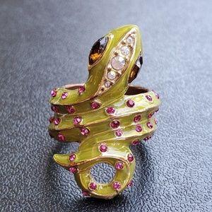 Betsey Johnson Snake Ring Size 7